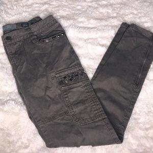 Miss Me gray cargo skinny jeans size 26